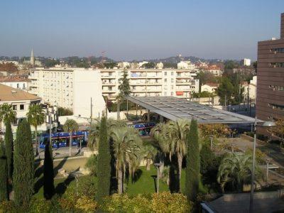 Tramway de Montpellier : station Corum