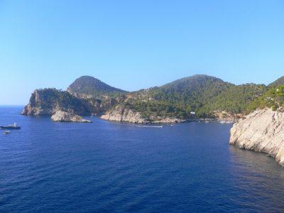 Sur la côte nord d'Ibiza