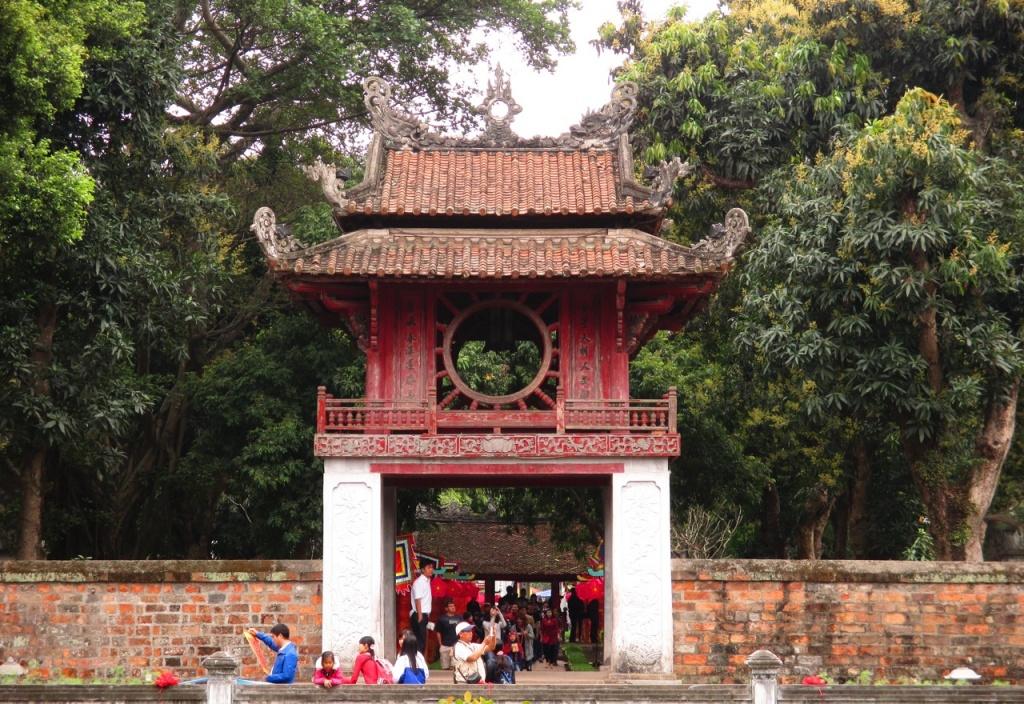 Le temple de la litterature a Hanoi