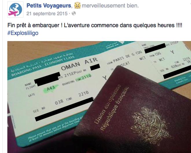 Découvrez la page Facebook de Petits Voyageurs