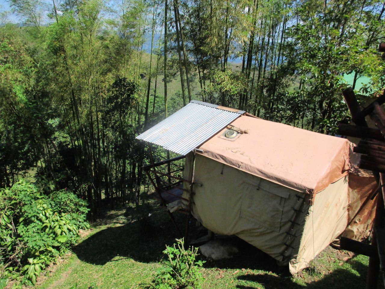 Notre cabane aux pieds de l'Arenal.