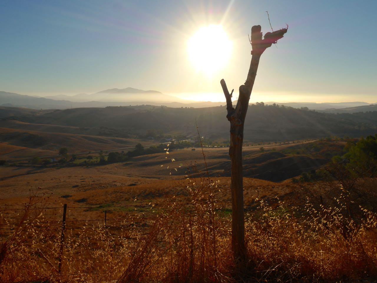 Lever de soleil en Andalousie