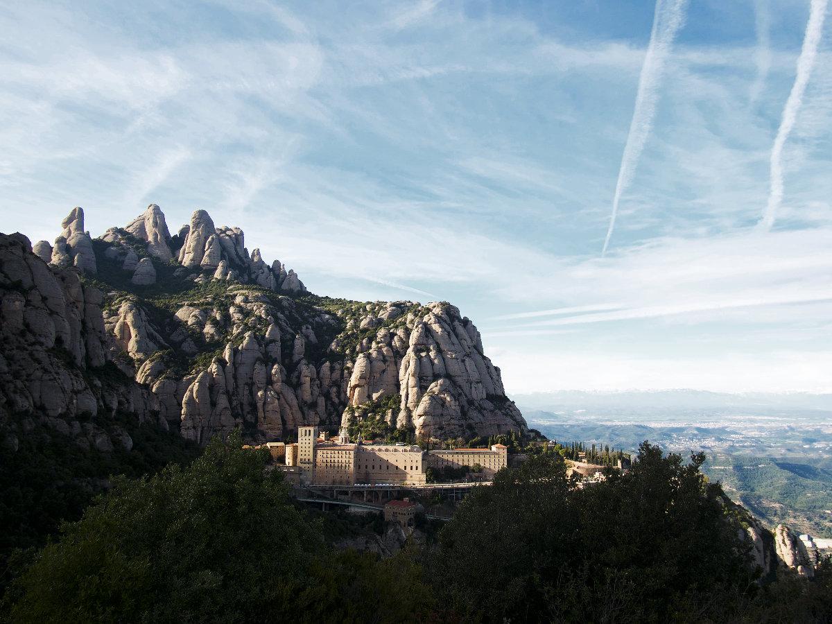 Coucher de soleil sur la montagne de Montserrat