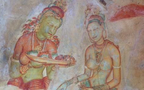 Peintures à Sigiriya : les Aspara