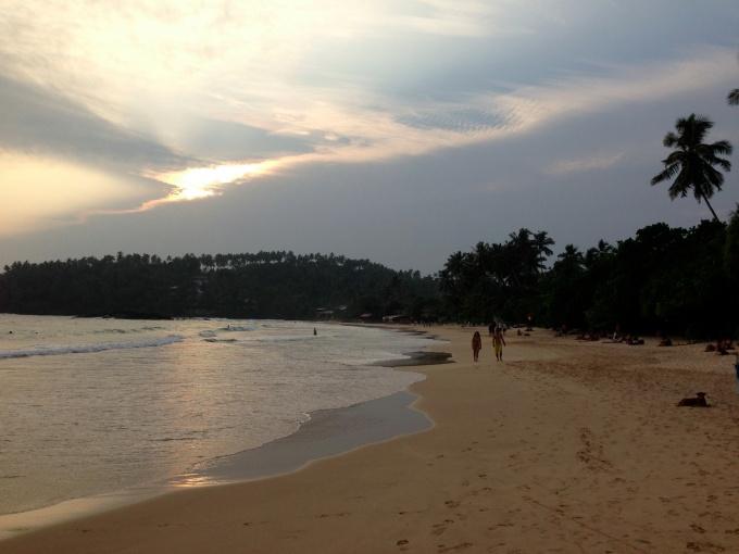 La plage de Mirissa