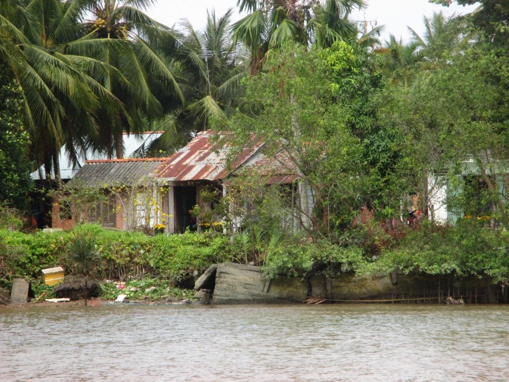 Cabanes de pêcheurs sur le Mekong