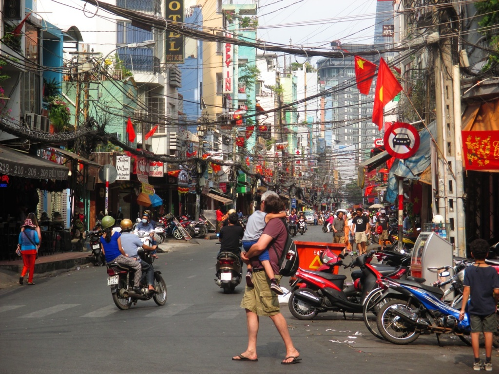 Le quartier routard de Saigon