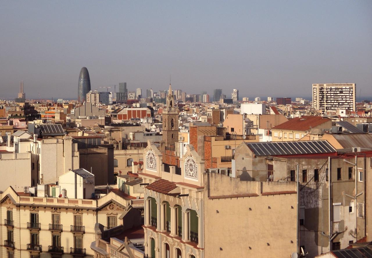 Sur les toits de Barcelone