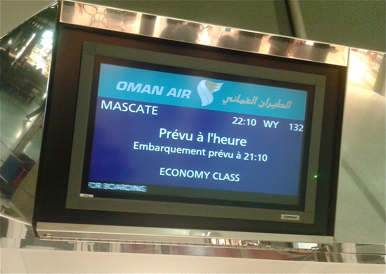 embarquement oman air