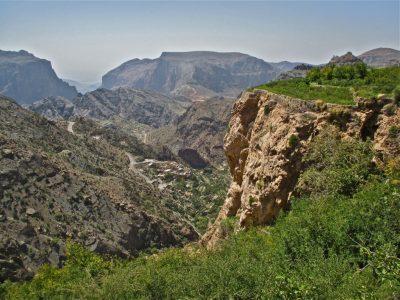 Falaise dans les montagnes d'Oman