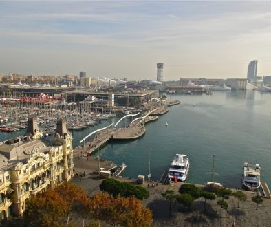 vue sur port de barcelone