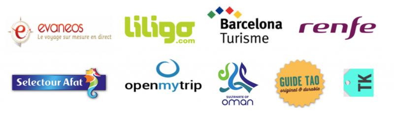 logos travailler avec petits voyageurs