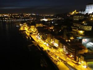 Le Douro by night, panorama sur Porto le nuit.
