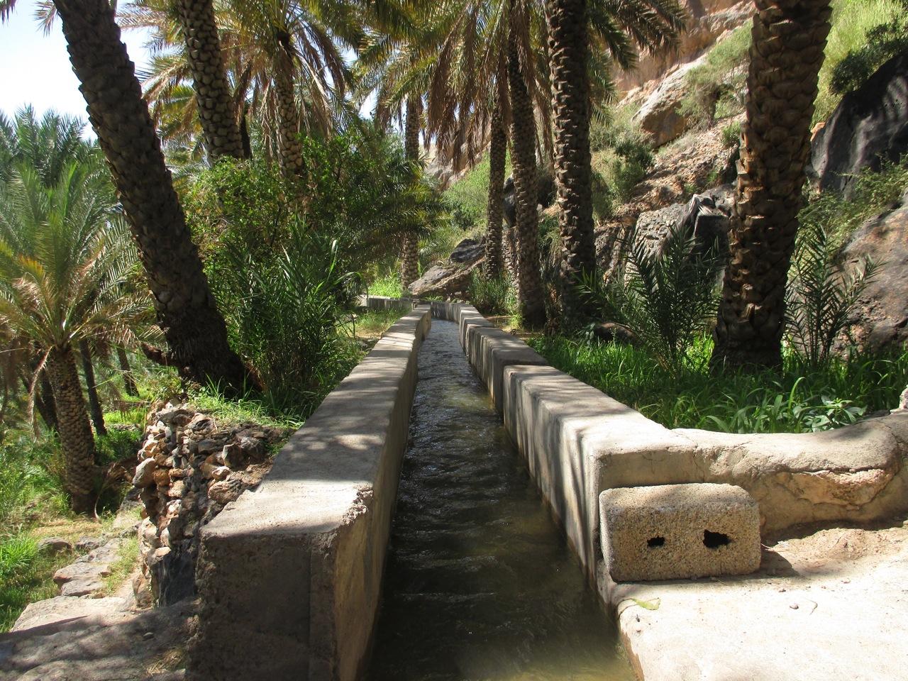 Les aflajs de Misfah à Oman
