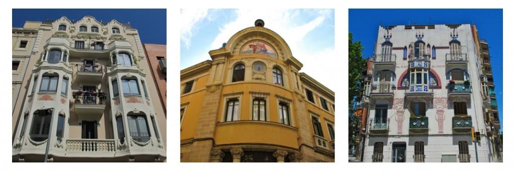 Trois facades modernistes à découvrir dans le quartier du Clot.