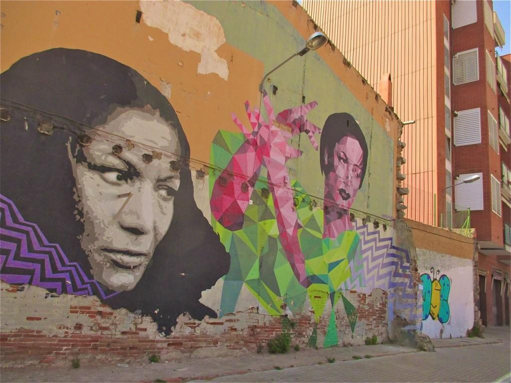 Street art dans le quartier du Clot.