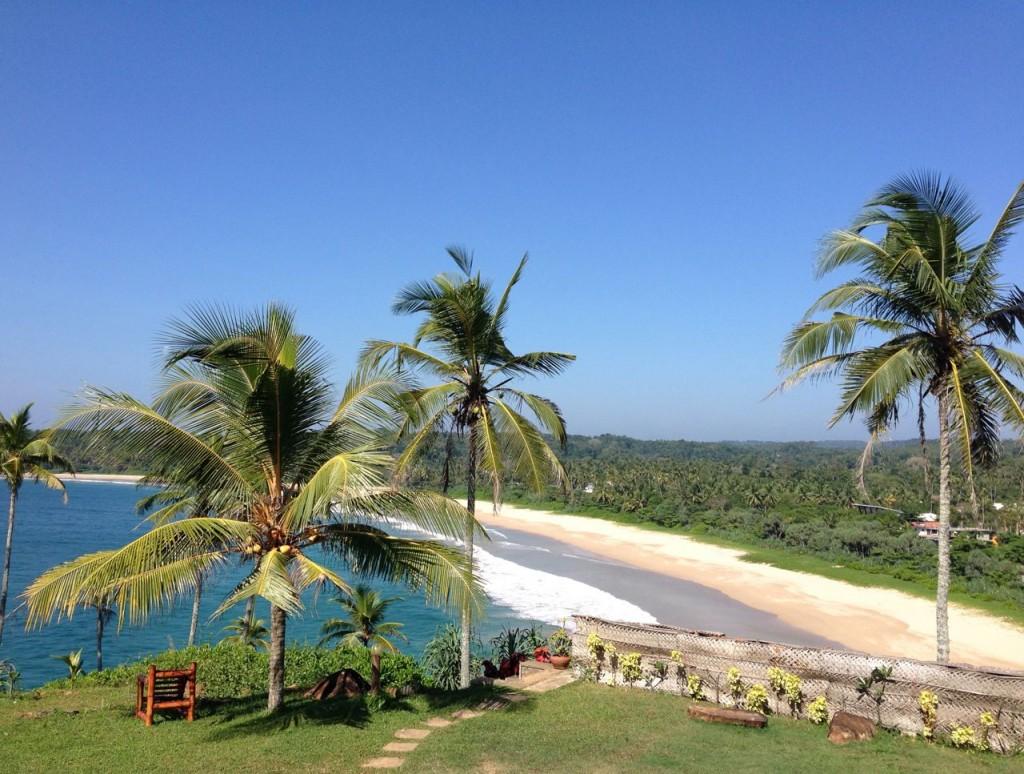 Vue sur Talalla depuis l'hôtel Panorama, au sud du Sri Lanka.