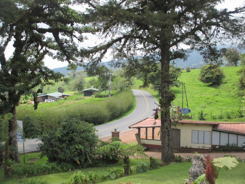 Route de montagne du Costa Rica