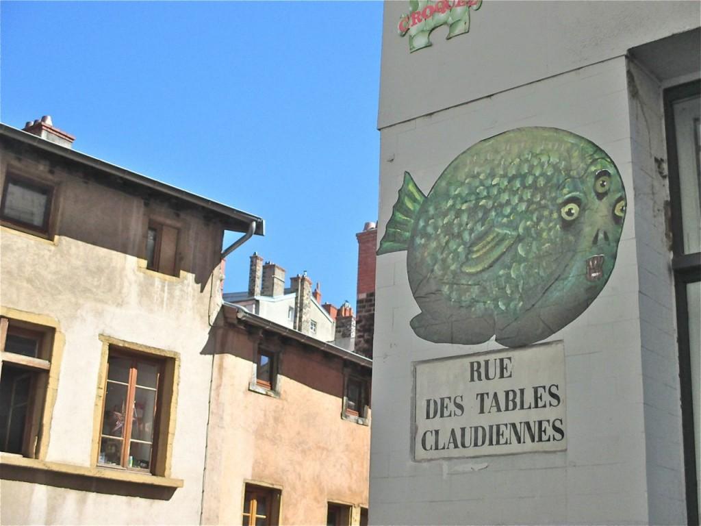 La rue des Tables Claudiennes à Lyon