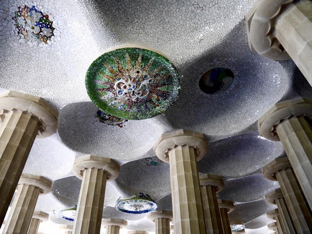 Visite du Park Güell : la salle Hypostyle