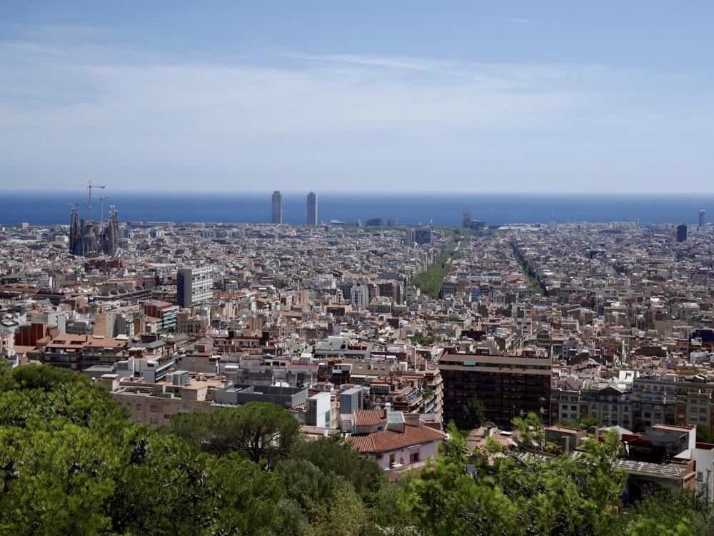 Vue sur Barcelone depuis le Park Güell