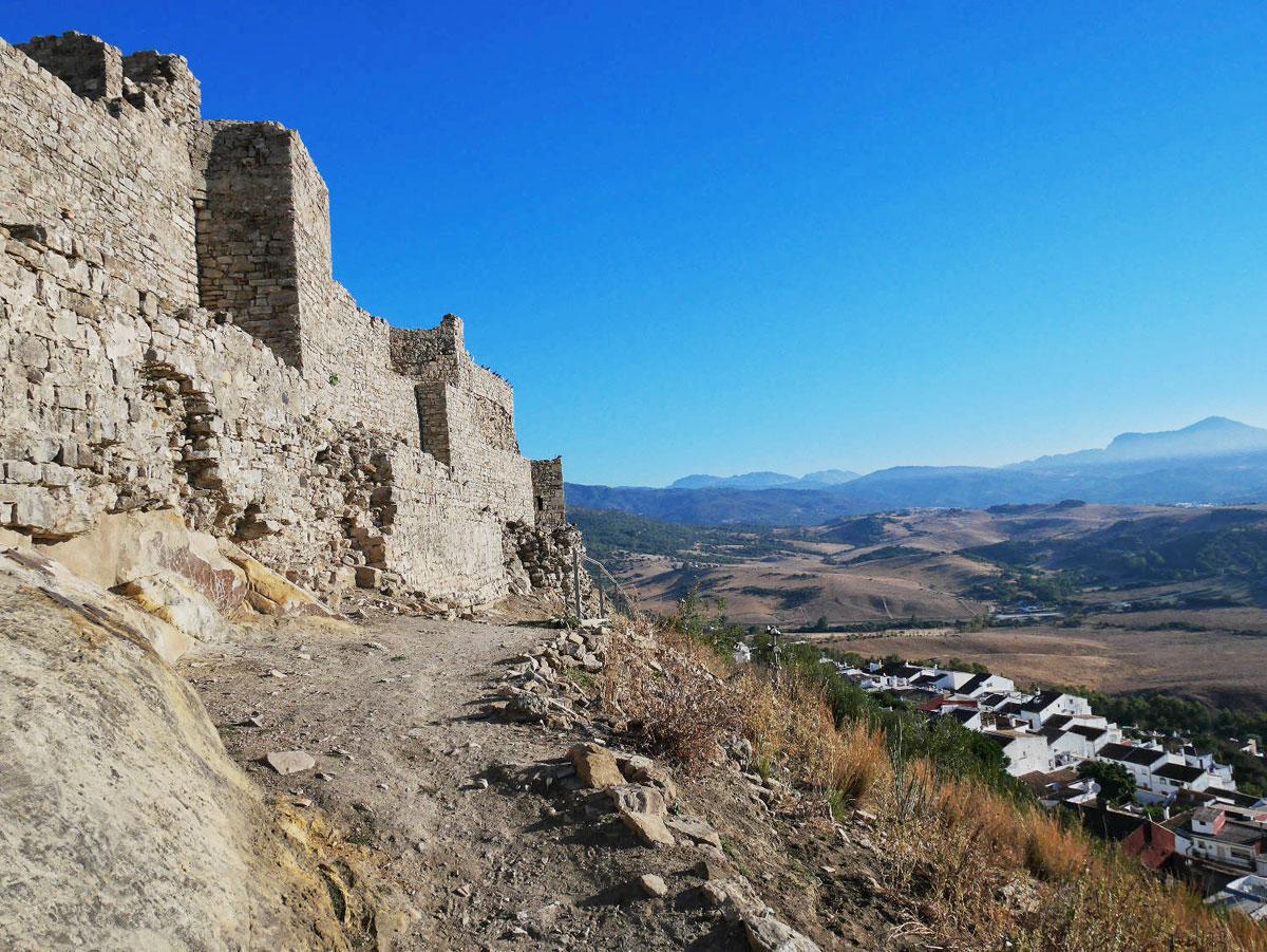 L'alcazar de Jimena en Andalousie