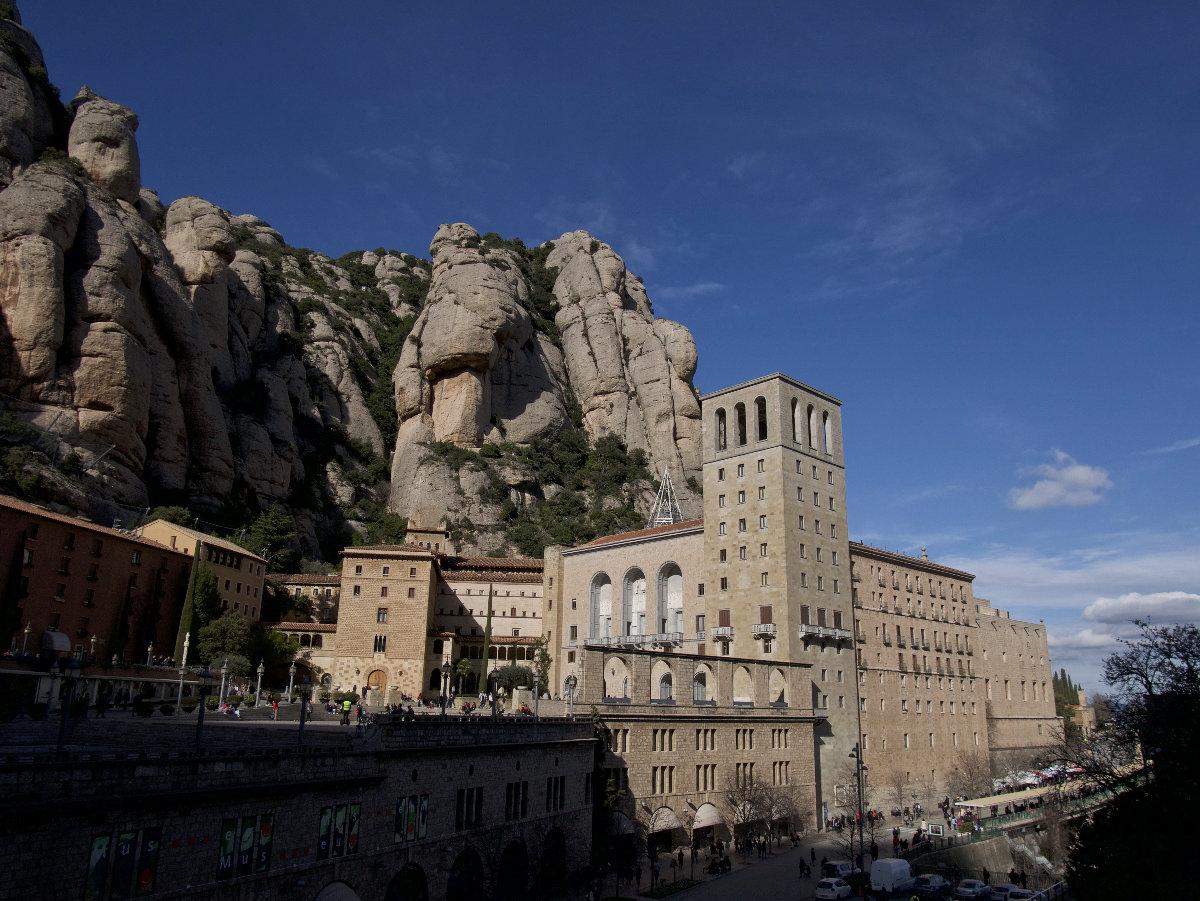 Vue sur le monastère de Montserrat