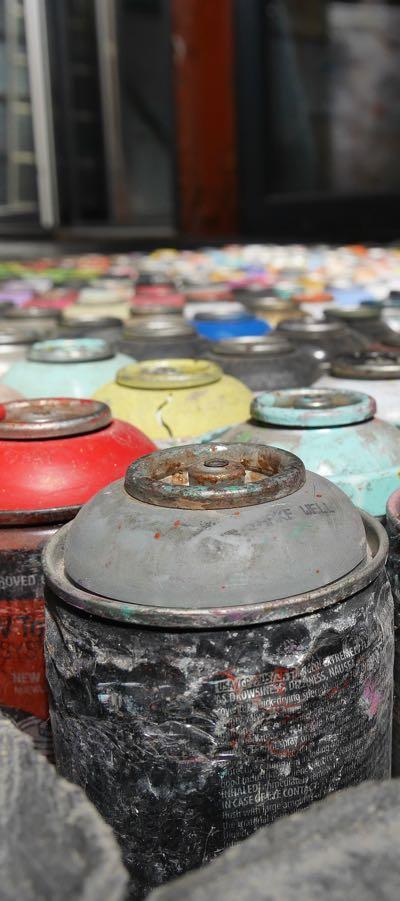 Bombe de peinture graffiti