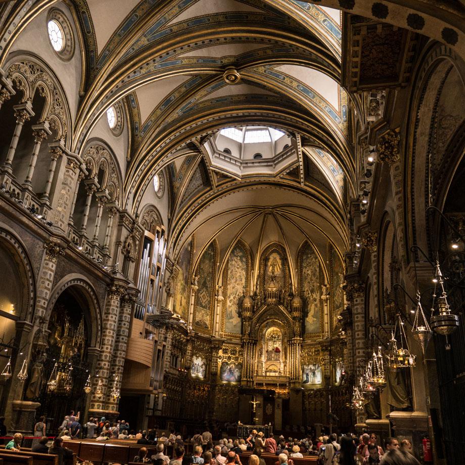 Dans le monastère de Montserrat