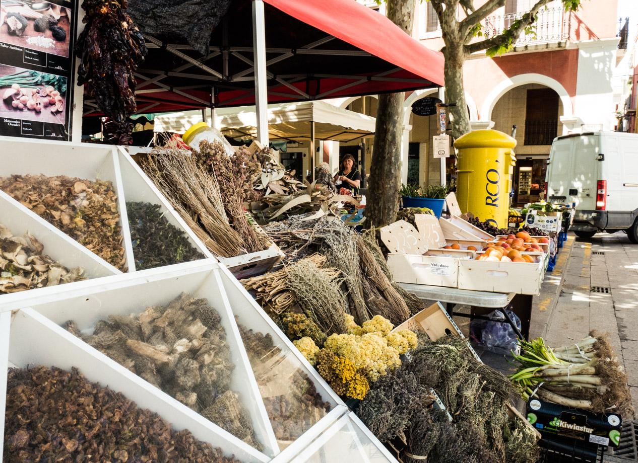 Sur le marché de Vilafranca del Penedès