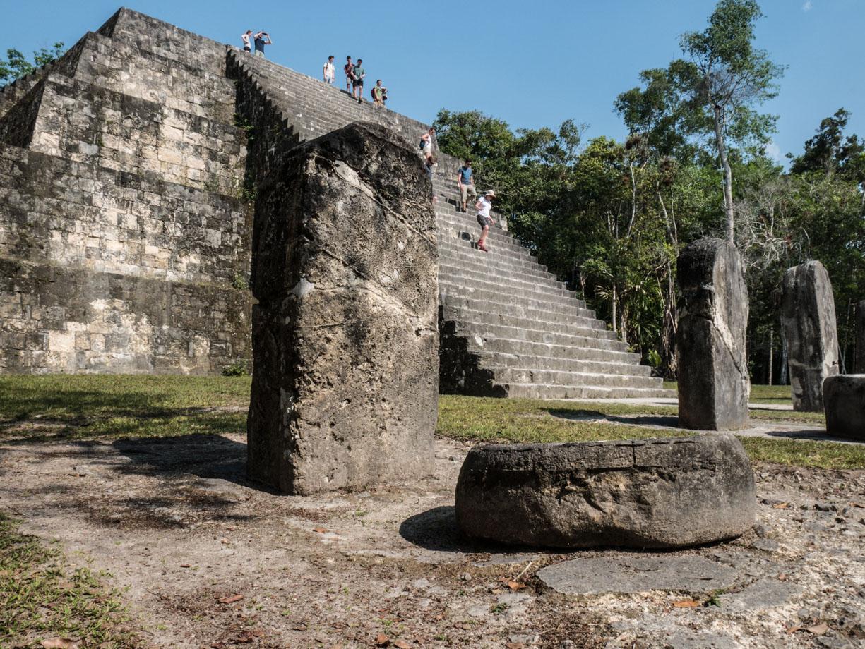 Voyage au Guatemala : temple de Tikal