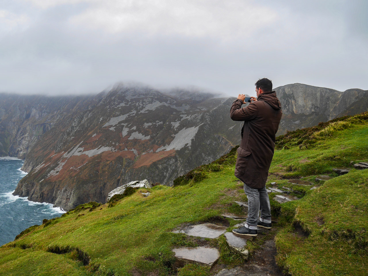 Panorama sur les falaises de Slieve League en Irlande