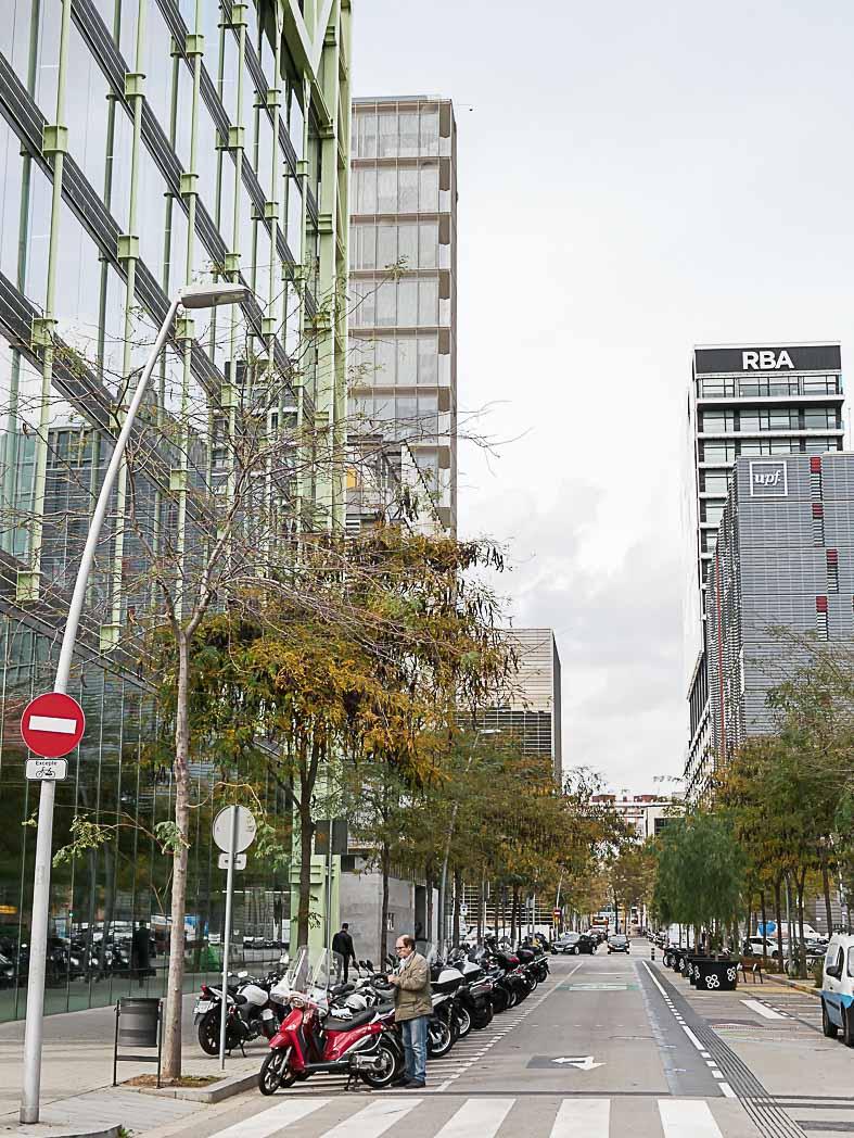 Itinéraire sur la carrer Roc de Boronat à Barcelone