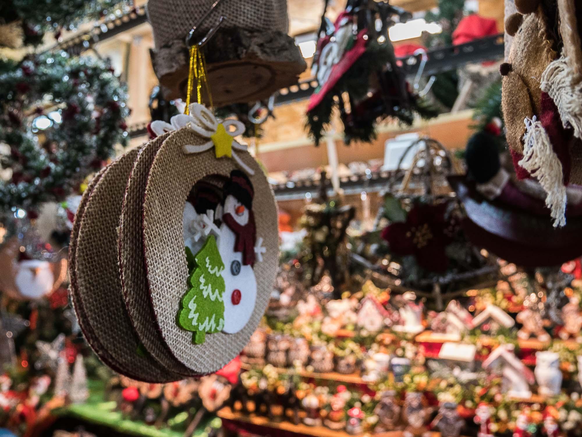 Stand du marché de Noël de Barcelone