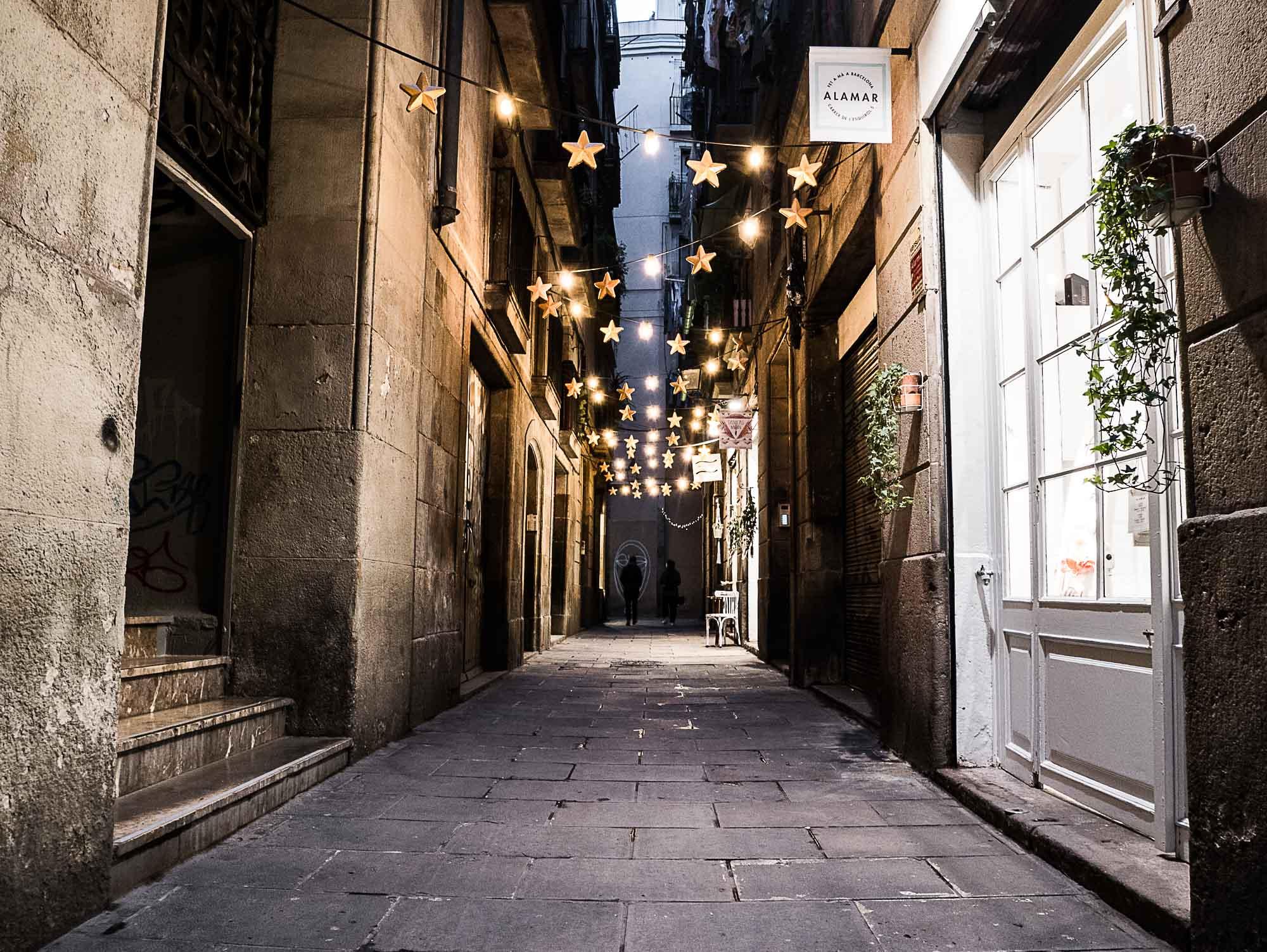 Barcelone by night dans le quartier du Born