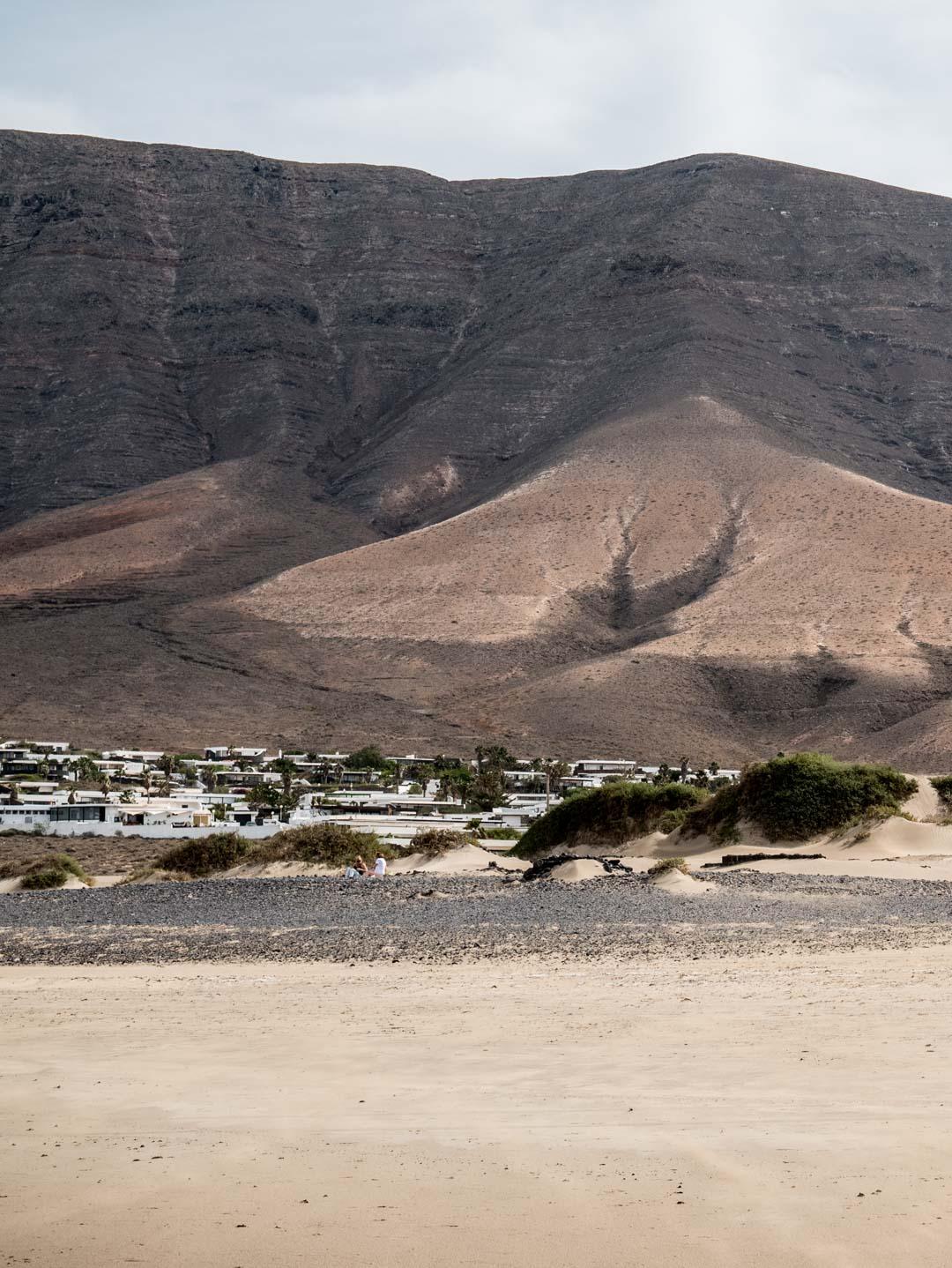 Panorama sur Famara à Lanzarote