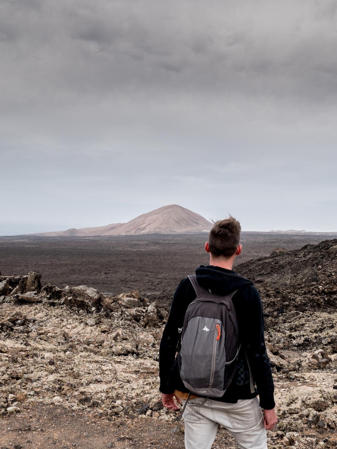 Randonnée à la Caldera Blanca à Lanzarote