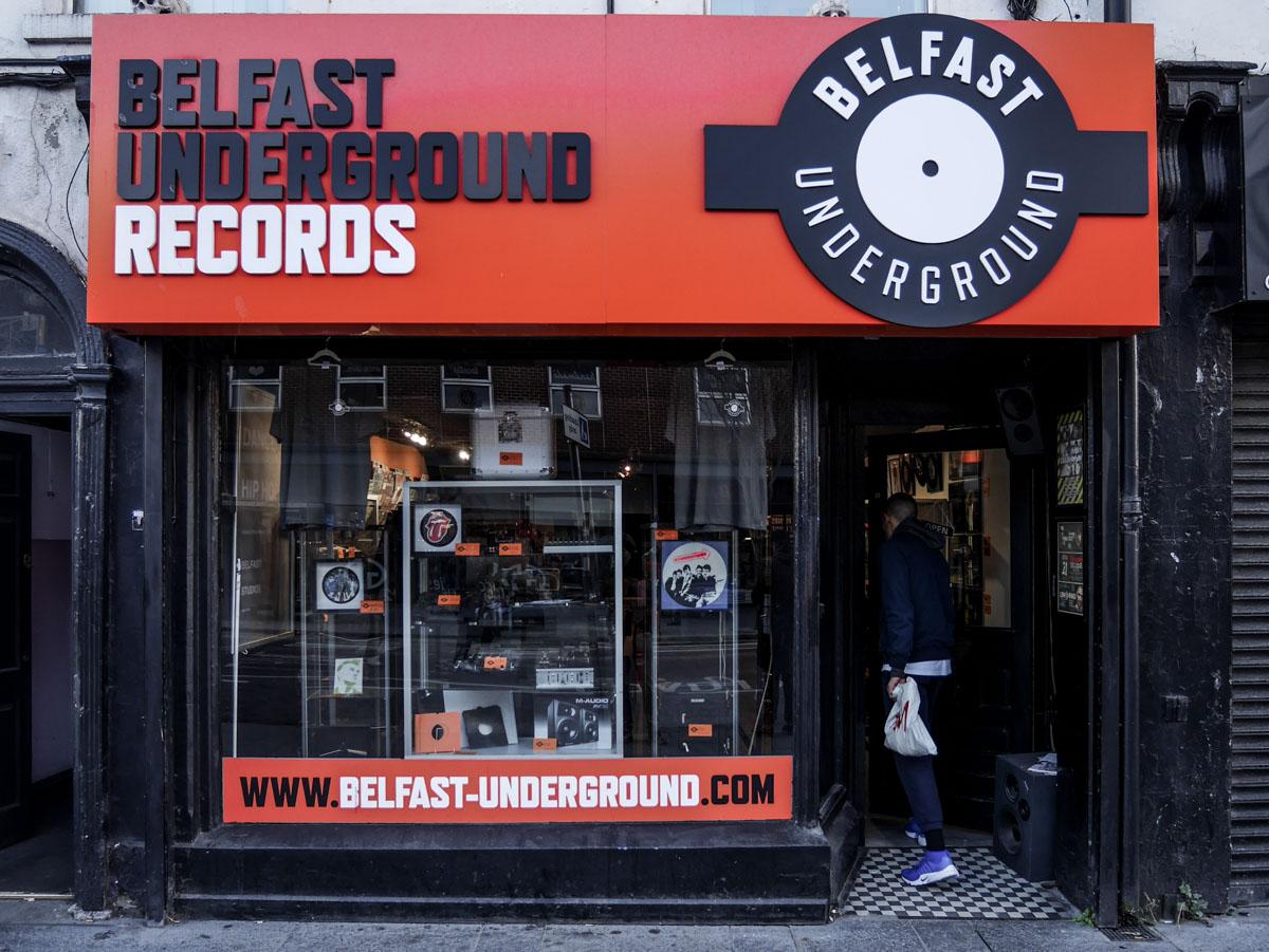 Un disquaire à Belfast