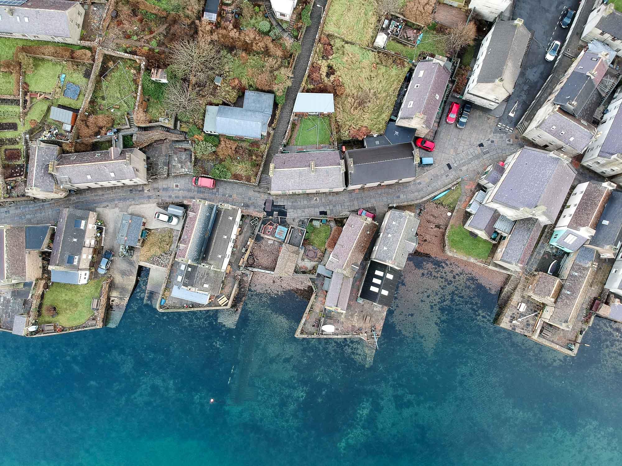 Le port de Stromness dans les Orcades
