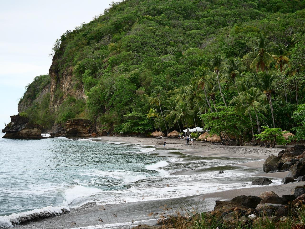 Les plages sauvages de Sainte-Lucie
