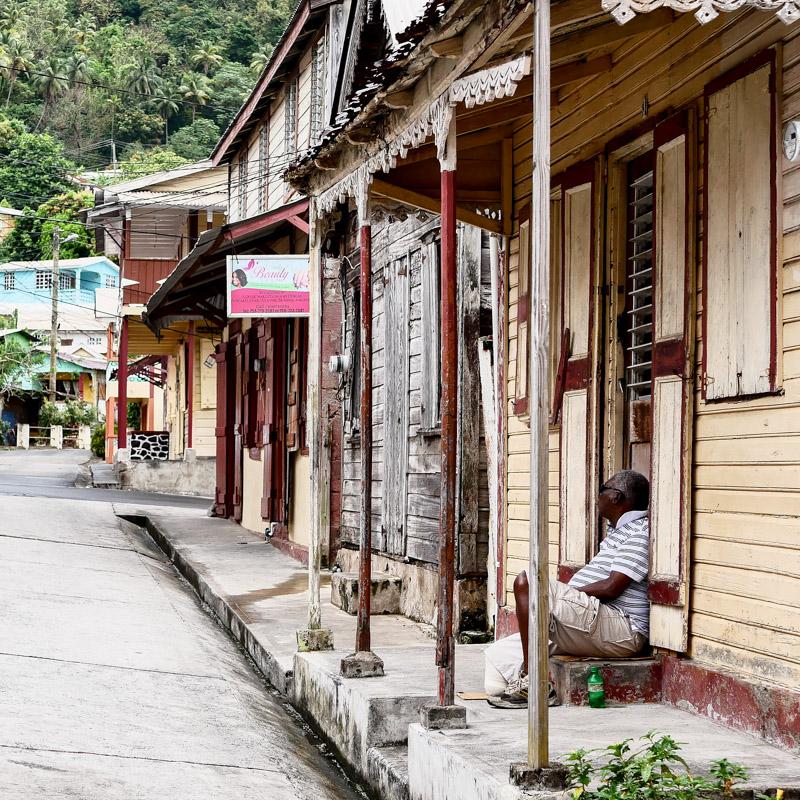 Architecture caribéenne à Sainte Lucie
