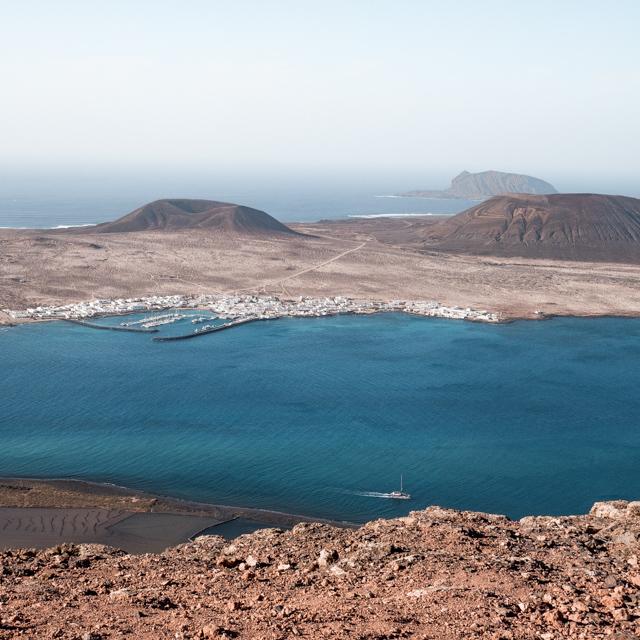 Panorama sur l'île de la Graciosa