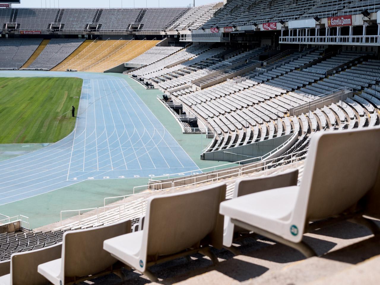 Découvrir le stade olympique de Montjuic à barcelone
