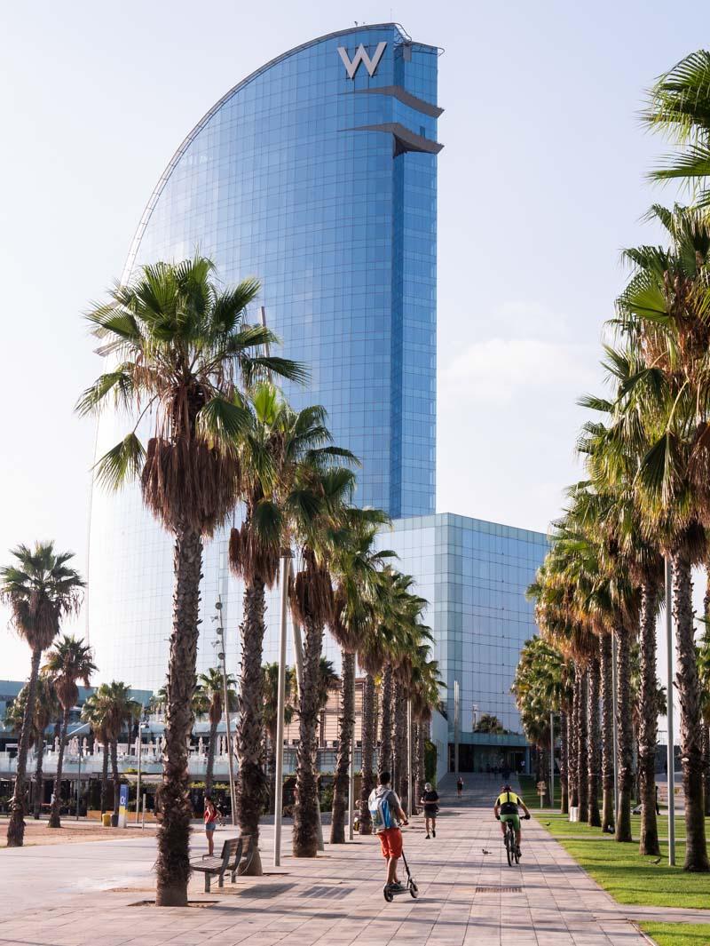 Hotel W : un monument à voir à Barcelone