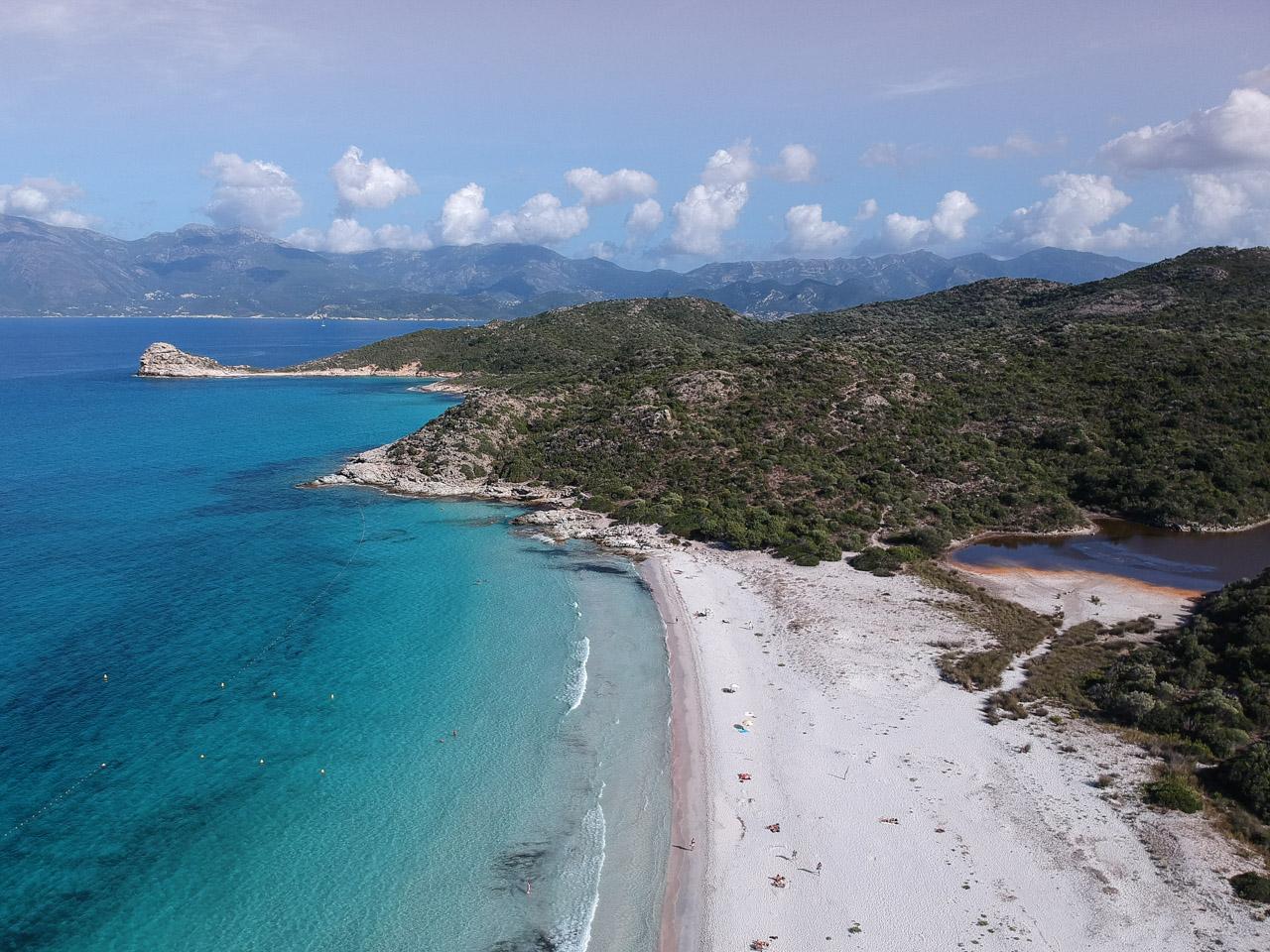 Panorama sur les plages de Corse