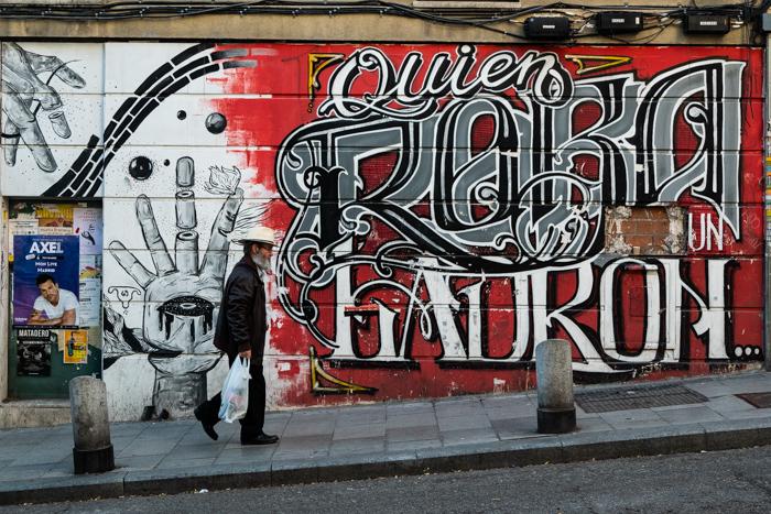 Scène de rue et street art à Madrid