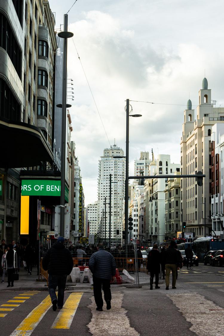 La foule : streetphoto à Madrid