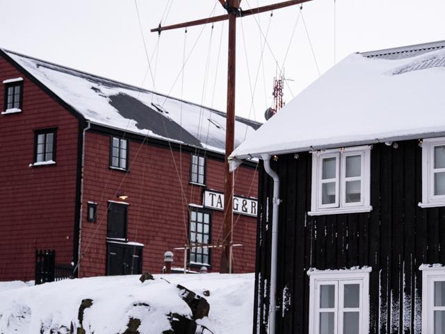 Village islandais durant l'hiver