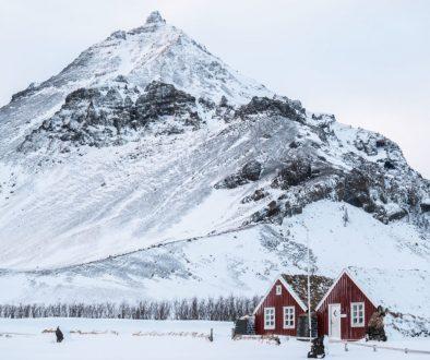 Les villages islandais sous la neige