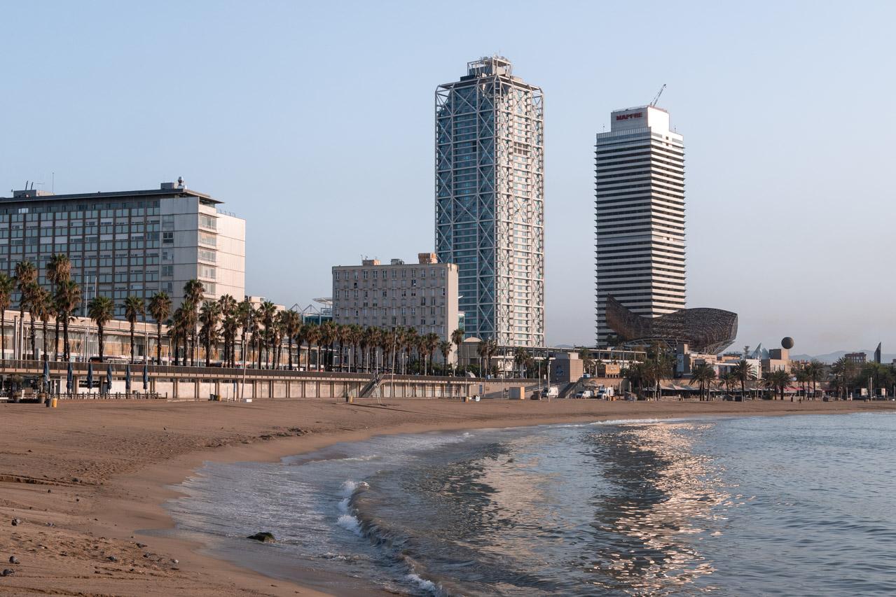 Itinéraire sur le port olympique de Barcelone